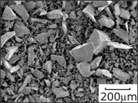 SEM(scanning electron microscope) image of ball-milled nitrogen storage alloy powder