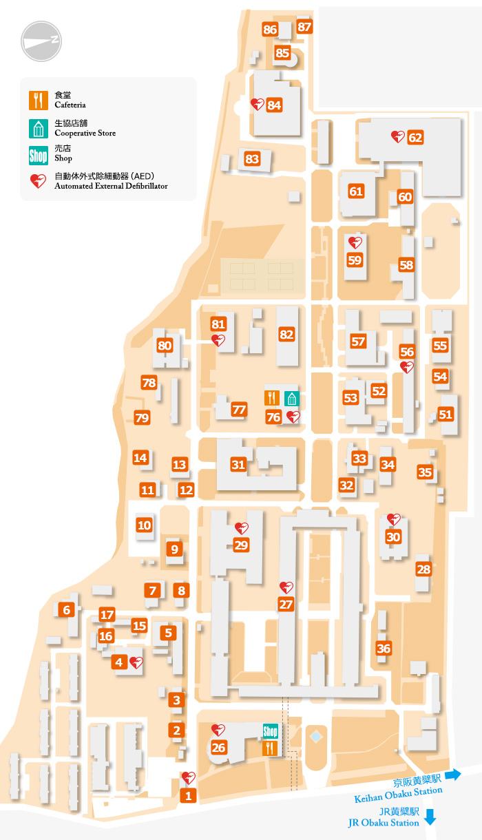 宇治キャンパス地図